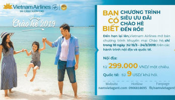 """""""CHÀO HÈ 2019"""" do Vietnam Airlines khai thác chính thức được mở bán!!!"""