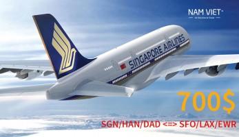Khuyến Mãi Bay Giá Shock  Chỉ USD700 Đến Mỹ Trên Chuyến bay thẳng - Premium Economy  của Singapore Airlines