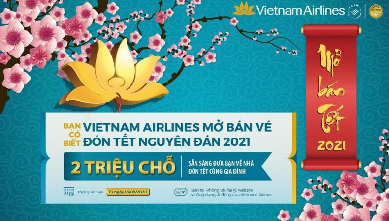VIETNAM AIRLINES GROUP MỞ BÁN VÉ TẾT TÂN SỬU 2021