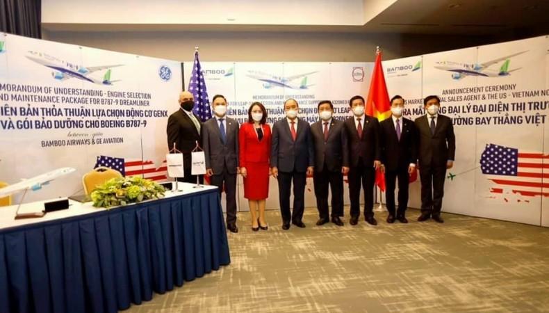 Bamboo Airways ký thoả thuận với các đối tác lớn