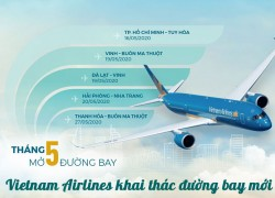 Vietnam Airlines mở 5 đường bay nội..