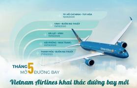 Vietnam Airlines mở 5 đường bay nội địa